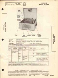 aircastle model 603.880 am radio disc recorder sams photofact manual