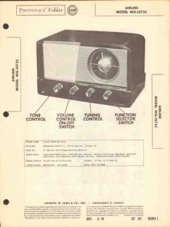 airline model wg-1572c am fm radio receiver sams photofact manual