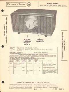 airline model 35br-155xa am radio receiver sams photofact manual