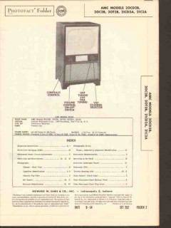 amc model 20cxx2b 21cxx2a tv television receiver sams photofact manual