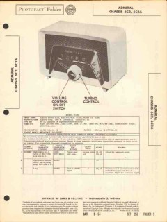 admiral chassis 6c2 6c2a am radio receiver sams photofact manual