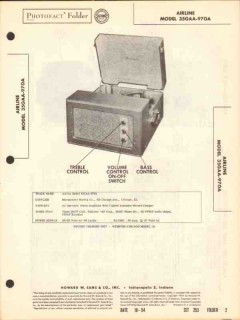 airline model 35gaa-970a 3-speed record changer sams photofact manual