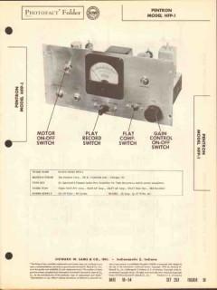 pentron model hfp-1 3-chan audio pre-amplifier sams photofact manual