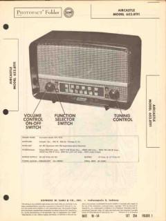aircastle model 652.6tf1 am fm radio receiver sams photofact manual