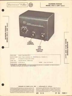 blonder-tongue model btu-2 uhf converter tv sams photofact manual