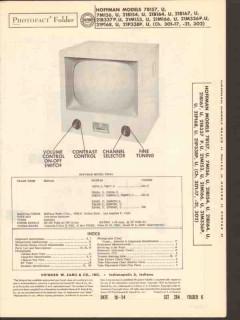 hoffman chassis 301-17 301-21 302 tv television sams photofact manual