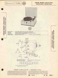 airline model 35gaa-94xa 3-speed record changer sams photofact manual