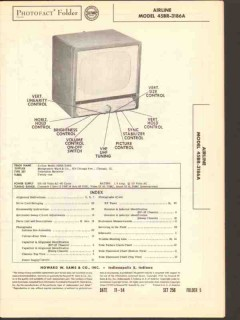 airline model 45br-3186a tv television receiver sams photofact manual