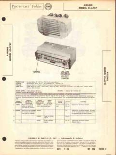 airline model 61-6787 am car radio receiver sams photofact manual