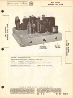 bell sound model 2150 2150r 50w audio amplifier sams photofact manual