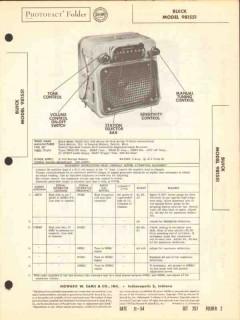 buick model 981551 8 tube am car radio receiver sams photofact manual