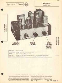 challenger model hf8 3chan 8watt audio amplifier sams photofact manual