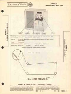 admiral chassis 15hf1 xhf1 am fm radio phono sams photofact manual