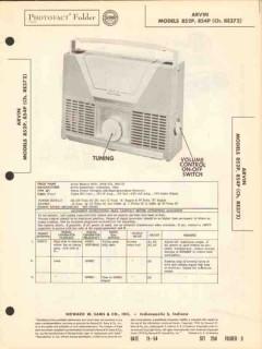 arvin model 852p 854p 4 tube am radio receiver sams photofact manual