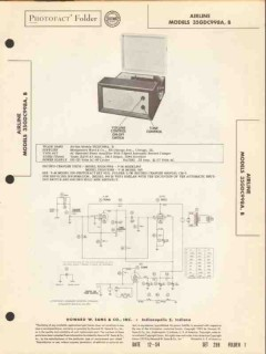airline model 35gdc998a 35gdc998b record changer sams photofact manual