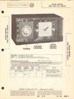 arvin model 848 849t am radio receiver clock sams photofact manual