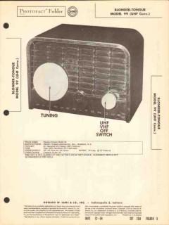 blonder-tongue model 99 tv uhf converter sams photofact manual