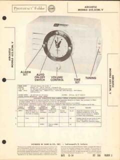 aircastle model 652.5c1m 652.5c1v am radio clock sams photofact manual