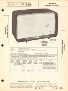 aircastle model 652.5t5e 652.5t5v am radio sams photofact manual
