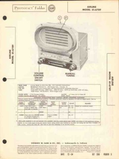 airline model 61-6789 am car radio receiver sams photofact manual