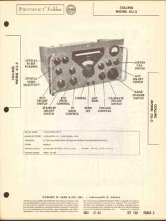 collins model 51j-3 multi-band am radio receiver sams photofact manual