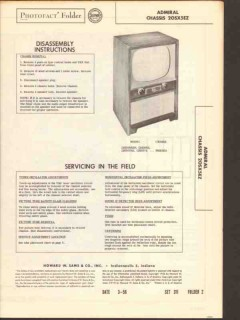 admiral chassis 20sx5ez tv television receiver sams photofact manual