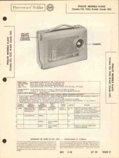 philco model d-655 d-661 am radio receiver sams photofact manual