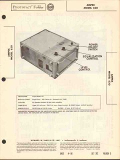 ampex model 620 portable 10-watt audio amplifier sams photofact manual