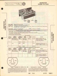 magnavox chassis cr-716aa am radio receiver sams photofact manual