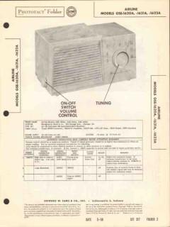 airline model gse-162xa 5 tube am radio receiver sams photofact manual