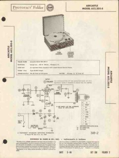 aircastle model 652.3d5-s 3-speed record player sams photofact manual