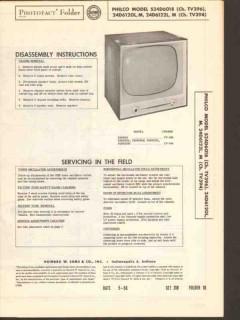 philco chassis tv394 tv396 television receiver sams photofact manual