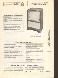airline model wg-501xa wg-511xa tv television sams photofact manual