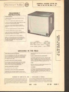 admiral chassis 18y4xx tv television receiver sams photofact manual