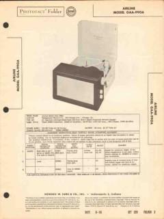 airline model gaa-990a am radio record changer sams photofact manual