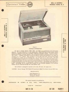 bell and howell model 3008x tape recorder sams photofact manual