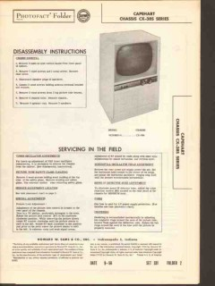 capehart chassis cx-385 tv television receiver sams photofact manual