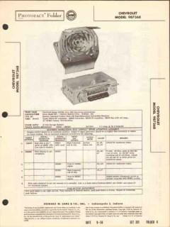 chevrolet model 987368 am car radio receiver sams photofact manual