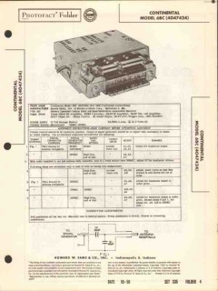 continental model 6bc am car radio receiver sams photofact manual