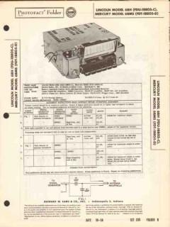 lincoln mercury model 6bh 6bms am car radio sams photofact manual
