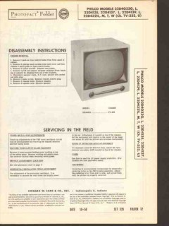 philco chassis tv-332 tv television receiver sams photofact manual