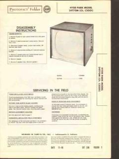 hyde park model 24t70m tv television receiver sams photofact manual