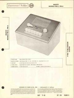 masco model fm-6 pm-6 intercommunications unit sams photofact manual