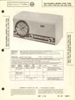 cbs-columbia model c220 c23x c240 am radio clock sams photofact manual