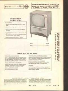 hoffman chassis 416 416-u tv television receiver sams photofact manual