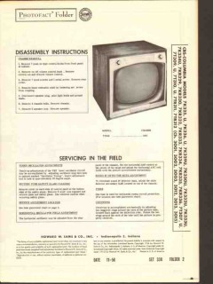 cbs-columbia chassis 300x 301x tv television sams photofact manual