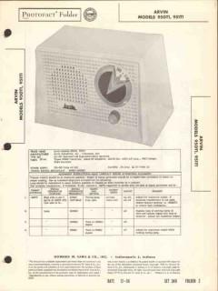 arvin model 950t1 951t1 5 tube am radio receiver sams photofact manual