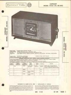 capehart model 75c56 am radio receiver clock sams photofact manual