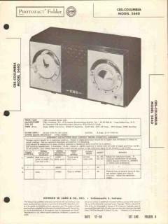 cbs-columbia model 5440 am radio receiver clock sams photofact manual