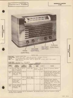 clarion model c104 am radio receiver sams photofact manual